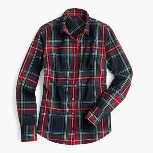 J. Crew Perfect Stewart Tartan Plaid Shirt